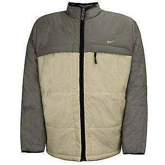 Nike Mens Padded Coat Colourblock Logo Quilted Jacket 167168 318