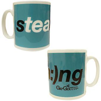 Gio Goi Novelty Mug Funny Gift Steaming Tea Cup Blue BA2 STEAMRMUG A54E