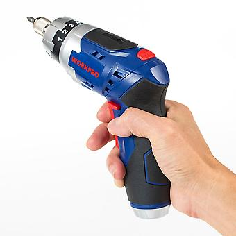 Cordless Screwdriver, Foldable, Electric, Rechargeable, Screwdrivers With Work