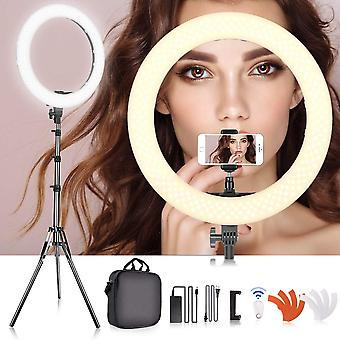 "Samtian 18-inch ring lights with stand, camera photo video 18""/ 48cm outer 55w led ring light photog"