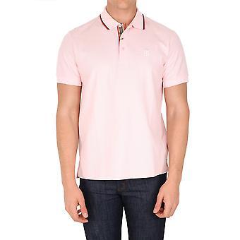 Burberry 8037595a3759 Heren's Roze Katoen polo shirt