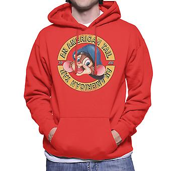 An American Tail 1986 Fievel Mousekewitz Character Head Men's Hooded Sweatshirt