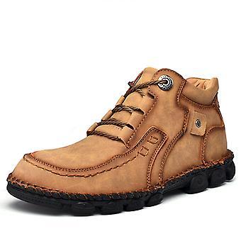 Zapatos de moda de cuero botas de hombre's 9936 Khaki