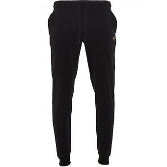 Paul & Shark Black Banded Cuff Fleece Sweatpants