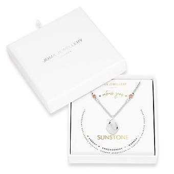 ジョマジュエリーウェルネス宝石シルバーサンストーン45cm + 5cmエクステンダーネックレス 4226