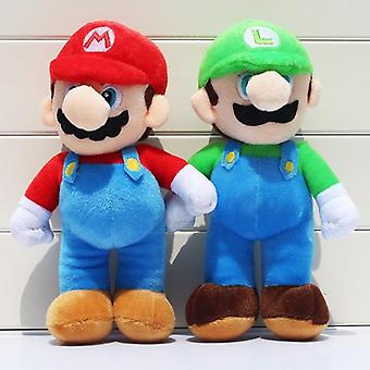 2pcs/lot 25cm Super Mario Bros Pluche - Mario Luigi Stuffed Dolls