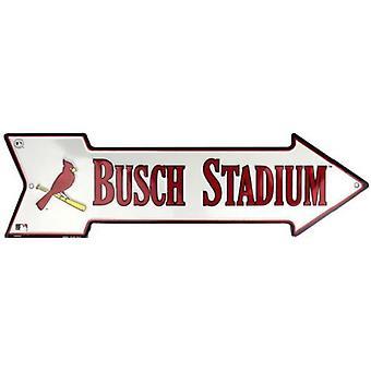 """St. Louis Cardinals MLB """"Busch Stadium"""" Arrow Sign"""