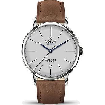 VOTUM - Reloj Unisex - VINTAGE AUTOMATIC - VINTAGE - V08.10.20.04 - correa de cuero - marrón claro