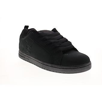 DC Court Graffik Tx Mens Black Skate Geïnspireerd Sneakers Schoenen