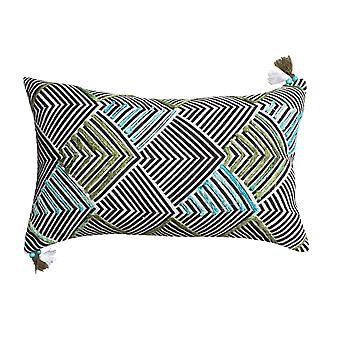 20 X 12 almohada de acento de algodón tejida a mano con estampado de flecha, multicolor