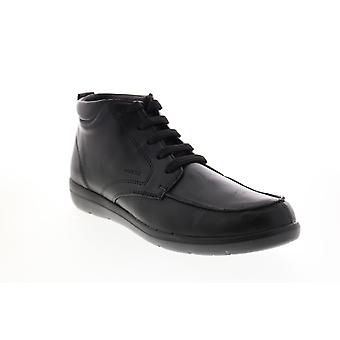 Geox U Leitan  Mens Black Leather Lace Up Ankle Boots
