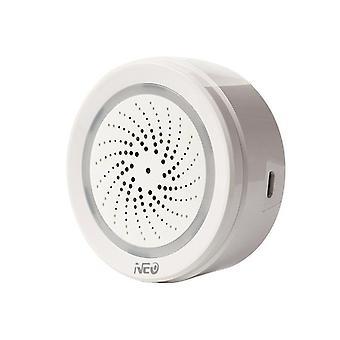 Wifi intelligens riasztó sziréna hőmérséklet-páratartalom érzékelővel