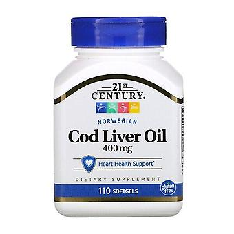 Siglo XXI, Aceite de hígado de bacalao noruego, 400 mg, 110 Softgels
