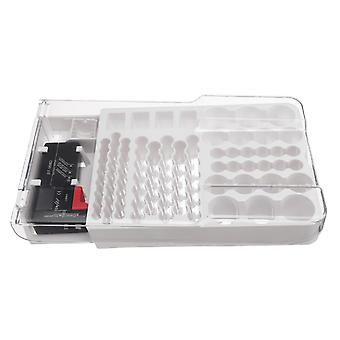 93 Baterie de stocare Caddy Box Case Titular Capacitate Rack W Tester