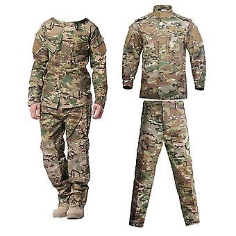Στρατιωτικό ομοιόμορφο κοστούμι τακτικής καμουφλάζ, πουκάμισο αγώνα ειδικών δυνάμεων στρατού