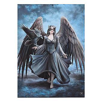 50x70cm Raven Canvas Plaque by Anne Stokes
