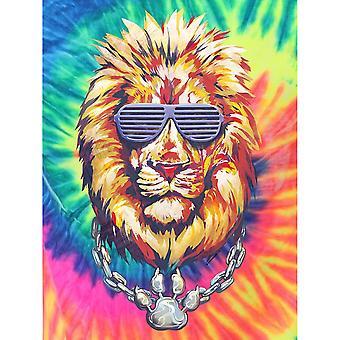 Unorthodox Collective Mens Lion Tie Dye T-Shirt