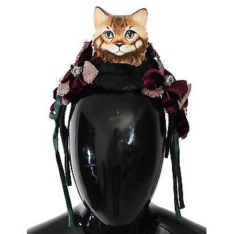 BENGAL CAT lilla rosa bue silke tiara hodebånd
