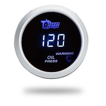 Digitales Öldruckmessgerät mit Sensor für Auto 52mm 2in lcd 0 x 120psi Warnlicht schwarz