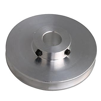 58x16x12MM Silver Alloy Single Groove 12MM Hole Step Pulley for PU Belt
