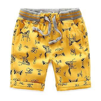 Cartone animato Stampato Cavallo Estate Lino traspirante 100% Pantaloncini di cotone