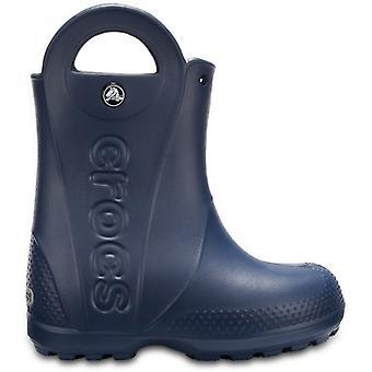 Crocs 12803 håndtere det regnstøvel barn Wellington støvler navy