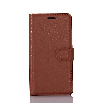Stylish magnetic leather case for Samsung Galaxy S9 - Brown