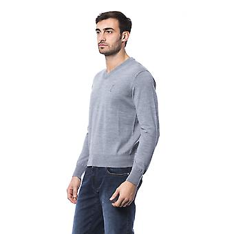 Billionaire Italian Couture Grich Lt Grey Sweater