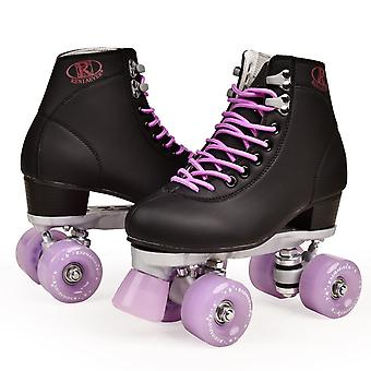 Artificial Leather Roller Skates Double Line Women Men Adult Two Line Shoes