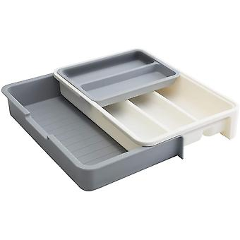 Gerui Cutlery Tray Expandable Adjustable Utensil Silverware Drawer Organizer for Kitchen 7