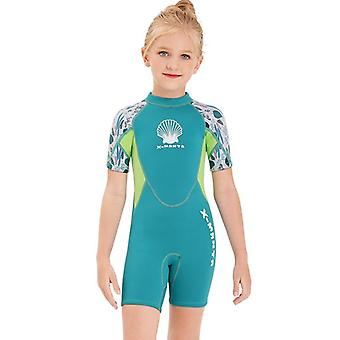 Kids wetsuit long sleeve one piece uv protection thermal swimsuit dfse-16