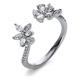 Diamantring Ring - 18K 750/- Weissgold - 0.75 ct. - 1R544W854 - Ringweite: 54