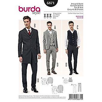 Burda Herresymønster 6871 - Dressjakker, Vest og bukser av Burda