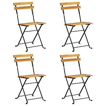 vidaXL Folding bistro chairs 4 pcs. solid wood acacia