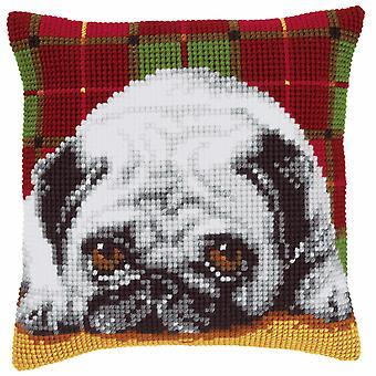 Vervaco Cross Stitch Kit: Coussin: Pug