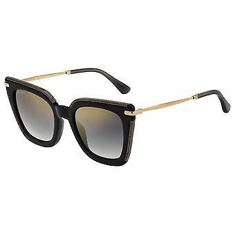 جيمي تشو سيارا / G / S EIB / FQ ارتفع الذهب هافانا / رمادي التدرج الذهب مرآة النظارات الشمسية