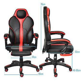 Large High Back Gaming Chair With Footrest And Lumbar Support