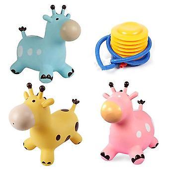 Inpany Bouncy Giraffe Hopper, Inflatable Jumping Bouncing Animal