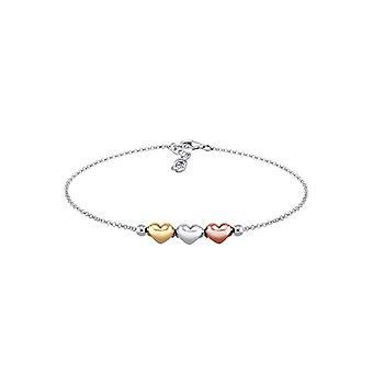 Elli Kvinders armbånd i Sølv 925, Tricolor Hearts