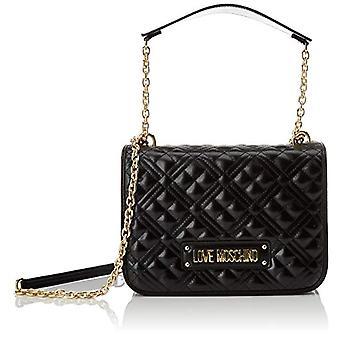 Love Moschino Jc4201pp0a, Women's Crossbody Bag, Black quilted, 9x19x26 cm (W x H x L)