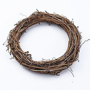 Rottinki rengas halvat keinotekoiset kukat, garland kuivatut kasvit, runko kotiin,