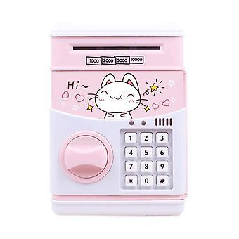 Piggy bank for kids coin money atm birthday rechargeable cat rabbit bear cq3