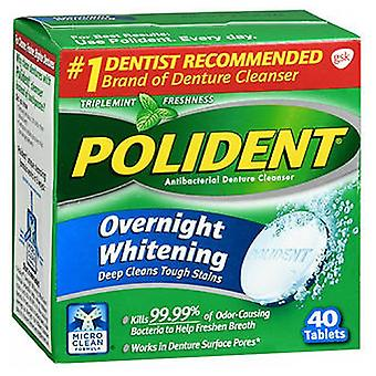 Polident Polident Overnight Whitening Tablets, 40 Tabs