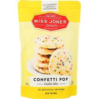 Miss Jones Baking Co Mix Cookie Cnfeti Pop Org, Case of 6 X 13 Oz