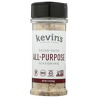 Kevins Natural Foods Seasoning All Purpose Gf, Case of 12 X 5 Oz