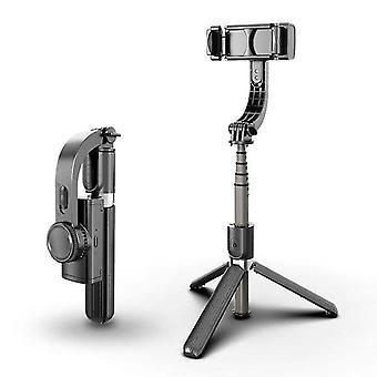 Černý bezdrátový stabilizátor kardanu l08 selfie tyč stativ ai-smart stabilní az11884