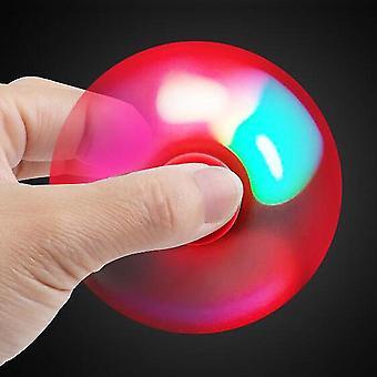 Led Bat Shape Rotating Hand Spinner Ceramic Bearing Pressure Reducing Finger Toy