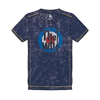 Who T Shirt Target Band Logo ny officiell Mens Navy Blue Snow Wash