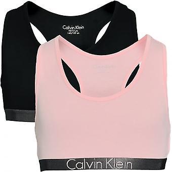 Calvin Klein Girls 2 Pakkaus Räätälöity Stretch Bralette, Musta / Ainutlaatuinen, X-Large