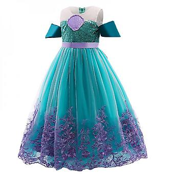 Baby Girl Sequin Floral Embroidery Princess Dress